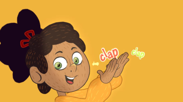 Intérprete de libras em vídeos infantis